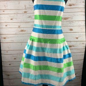 Lilly Pulitzer Stripe Strapless Jordan Dress sz 8
